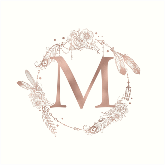 Gold Letter M Wall Decor