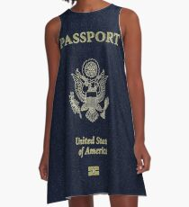 Make America Great Again USA Passport A-Line Dress
