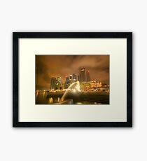 Singapore City Framed Print