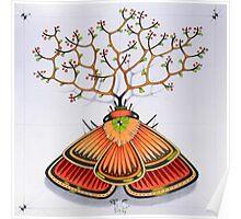 tree - moth (original sold) Poster