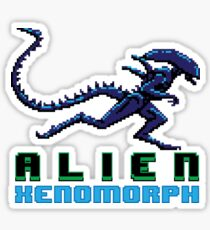 Alien Xenomorph 8 bit Pixels Sticker