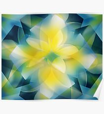 Frangipani from the Kaleidoscope Collection Poster