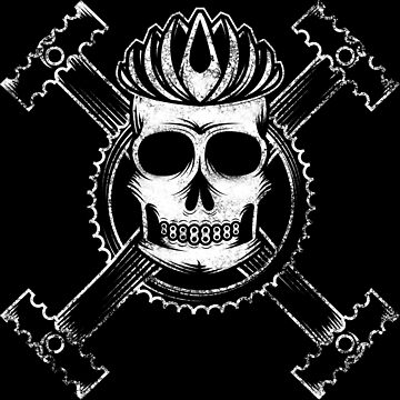 Cycling skull and crossbones by karlos