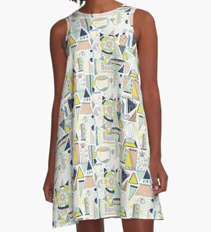 modern cactus pop art A-Line Dress