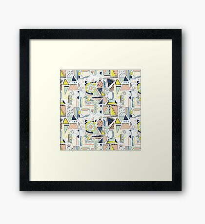 modern cactus pop art Framed Print