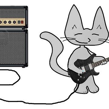 "Rock ""n"" Roll Kitty  by JohnsCatzz"