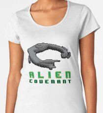 Alien Covenant Ship 8 bit Pixels Women's Premium T-Shirt