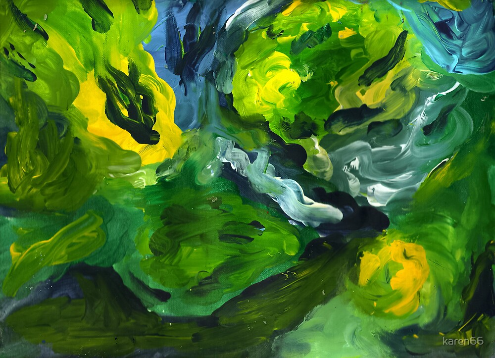 Abstract Fingerpainting Two by karen66