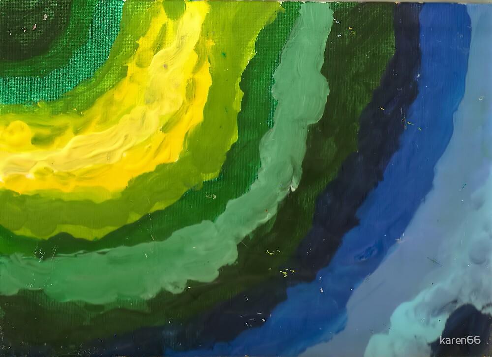 Blue and Green Cascade by karen66