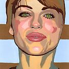 My mind forms the point of convergence of your historical lines of reference. (Liz Hurley) by Ken  Wentworth