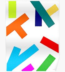 Abstract Obliques Coloured Poster