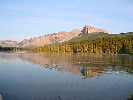 Chief Hector Lake Alberta by fenner