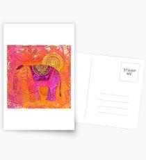 Happy Elephant II Postcards