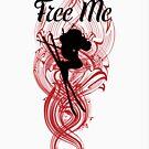 Free Me Ski T-Shirt by artism