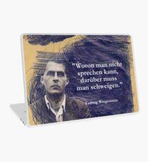 Vinilo para portátil PERSONAS Ludwig Wittgenstein De lo que no se puede hablar es de lo que hay que callar