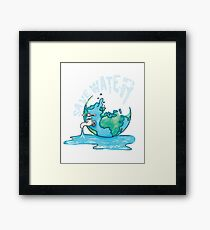Save Water Earth Protect Eco Environmental Design Framed Print