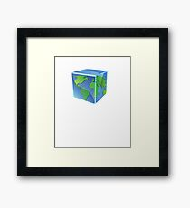 Stay Cool Earth Protect Eco Environmental Design Framed Print