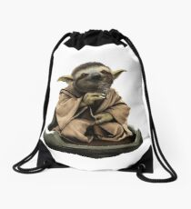 Inner Peace Sloth Yoda  Drawstring Bag