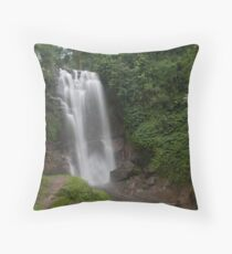 Munduk Indonesia Golden Valley Waterfall. Throw Pillow