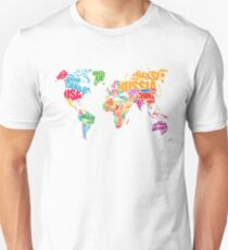 Typography Map Unisex T-Shirt