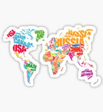 Typography Map Sticker