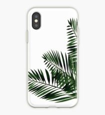 Tropical Exotic Palm Leaves on #Redbubble iPhone Case