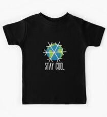 Stay Cool Earth Protect Eco Environmental Design Kids Tee