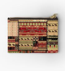 African print with elephants Studio Pouch