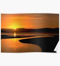 Ralphs Bay Sunset, Tasmania Poster