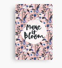 Pink pastel flowers pattern Canvas Print