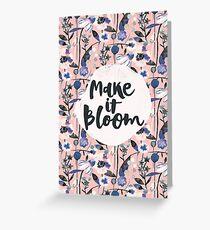 Pink pastel flowers pattern Greeting Card