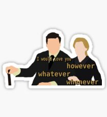 DA: Anna e Bates + quote Sticker