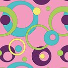 Funky Pink Circles by Valerie Hartley Bennett