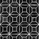 Geometric Lino Print by Vicky Webb