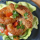 Spelled sesame pretzel with smoked salmon trout by SmoothBreeze7