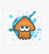 Splatoon Squid on Ink Wall Tapestry