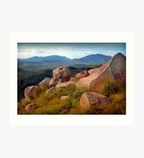 Mt.Elliot from Mt.Stuart. Art Print