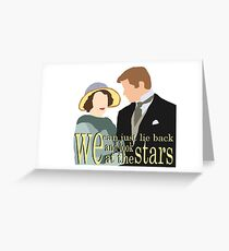 DA: Sybil e Tom + quote Greeting Card