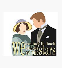 DA: Sybil e Tom + quote Photographic Print