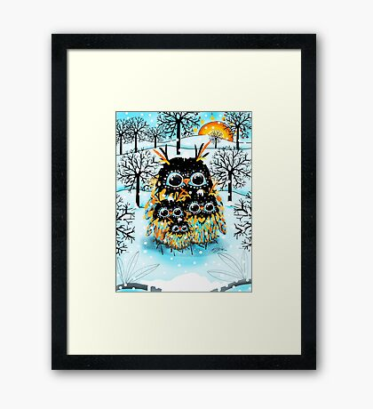 snow owls Framed Print