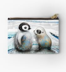 Penguin Chick and Baby Seal Studio Pouch
