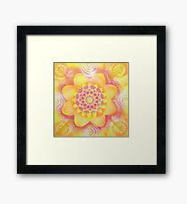 """ GOLDEN FLOWER "" Framed Print"
