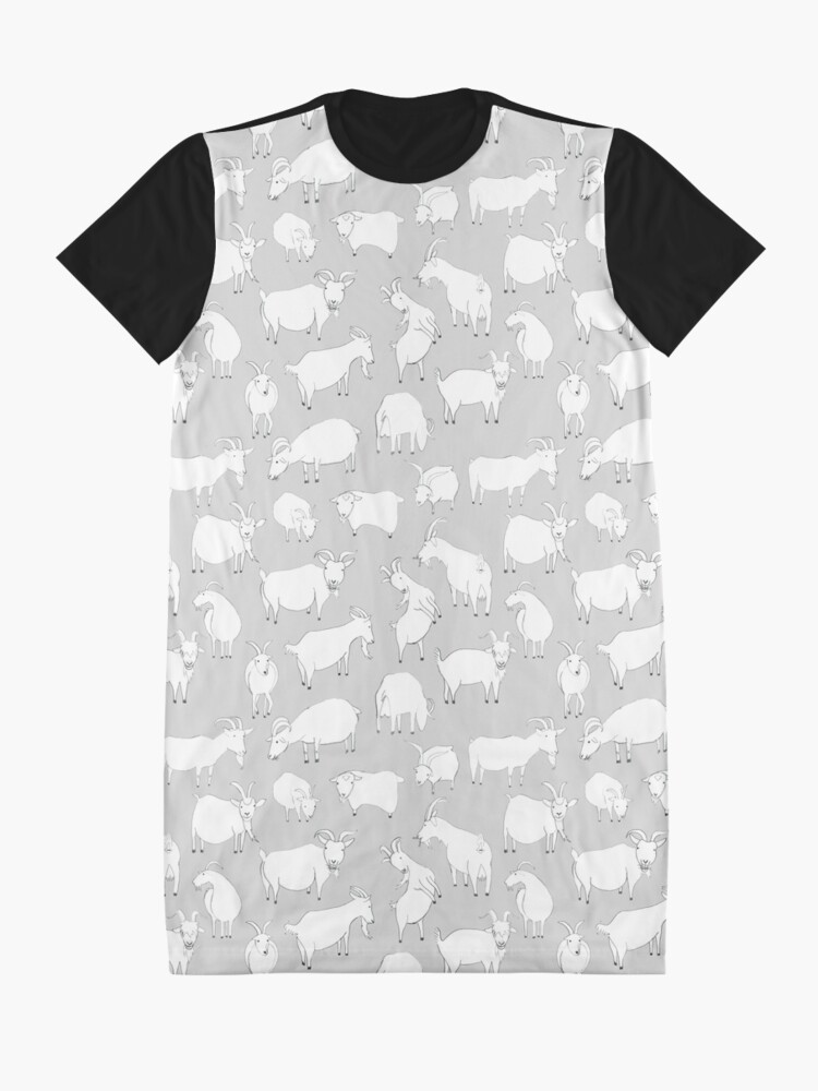 Alternate view of Charity Fundraiser - Grey  Goats Graphic T-Shirt Dress