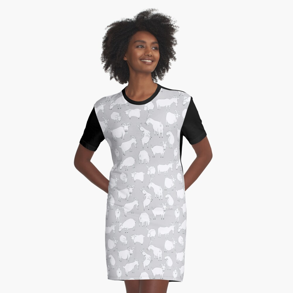 Charity Fundraiser - Grey  Goats Graphic T-Shirt Dress