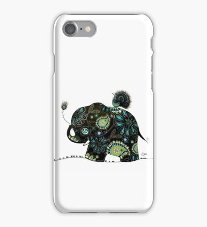 The Elephant and the Peacock iPhone Case/Skin