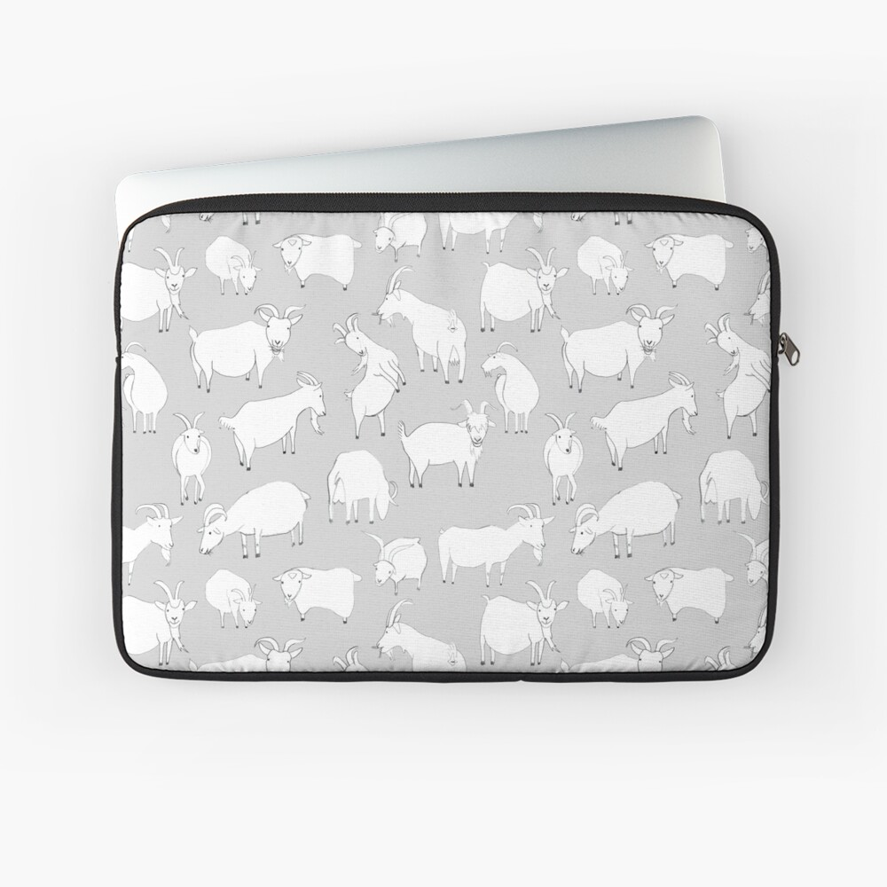 Charity Fundraiser - Grey  Goats Laptop Sleeve