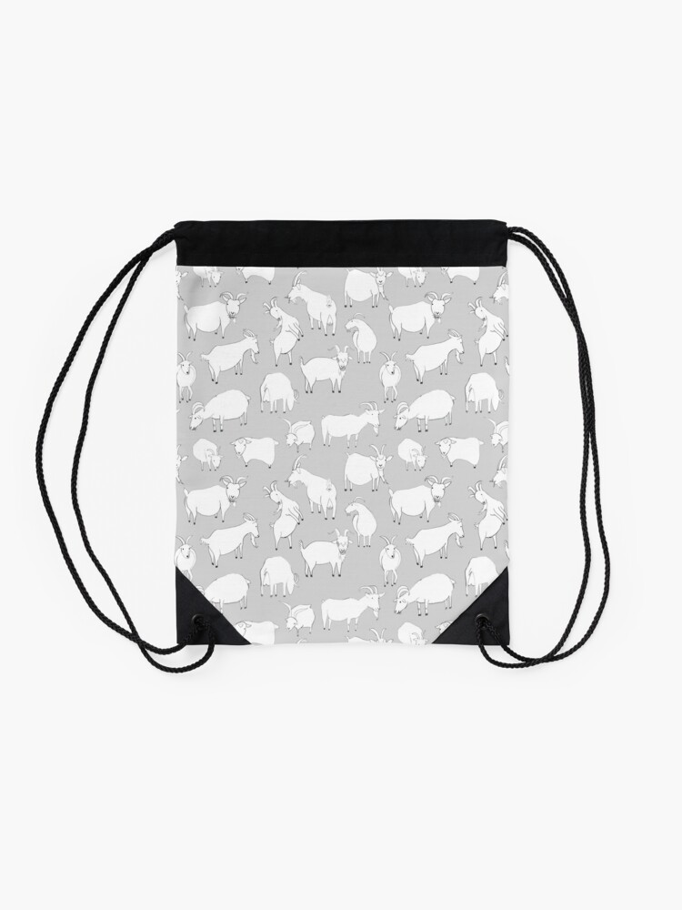 Alternate view of Charity Fundraiser - Grey  Goats Drawstring Bag
