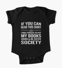 Funny Bookworm Forced To Re Enter Society Geek Quote Kids Clothes