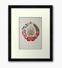 coat of arms Uzbek Soviet Socialist Republic Framed Print