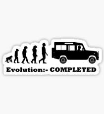 Evolution:- COMPLETED Land Rover Defender Sticker